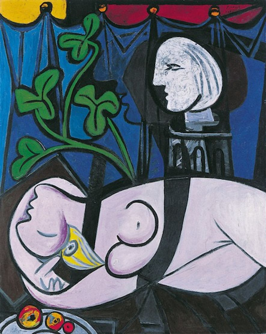 Nude, Green Leaves and Bust, by Pablo Picasso, 1932.