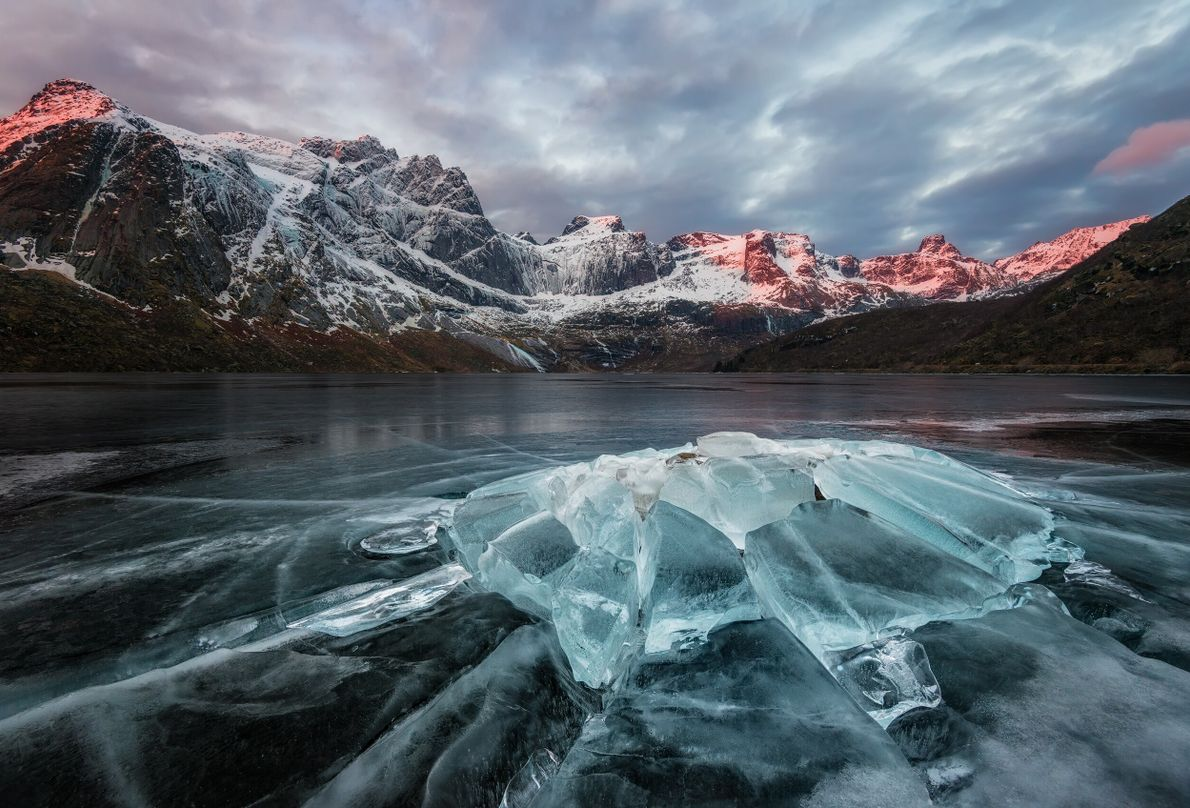 "Storvatnet Lake, Lofoten. Stian Klo: ""This was captured on a cold February morning a few years ..."