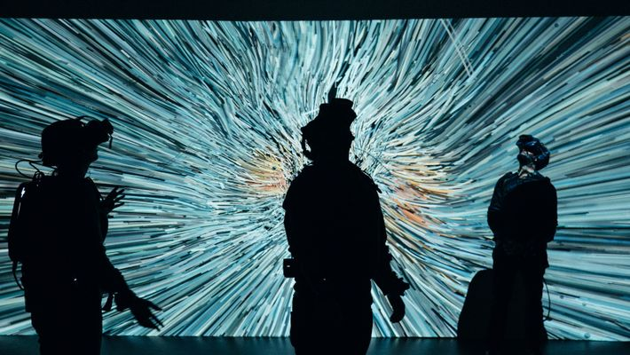 Visitors to 'We Live in an Ocean of Air' describe the experience as one filled with ...