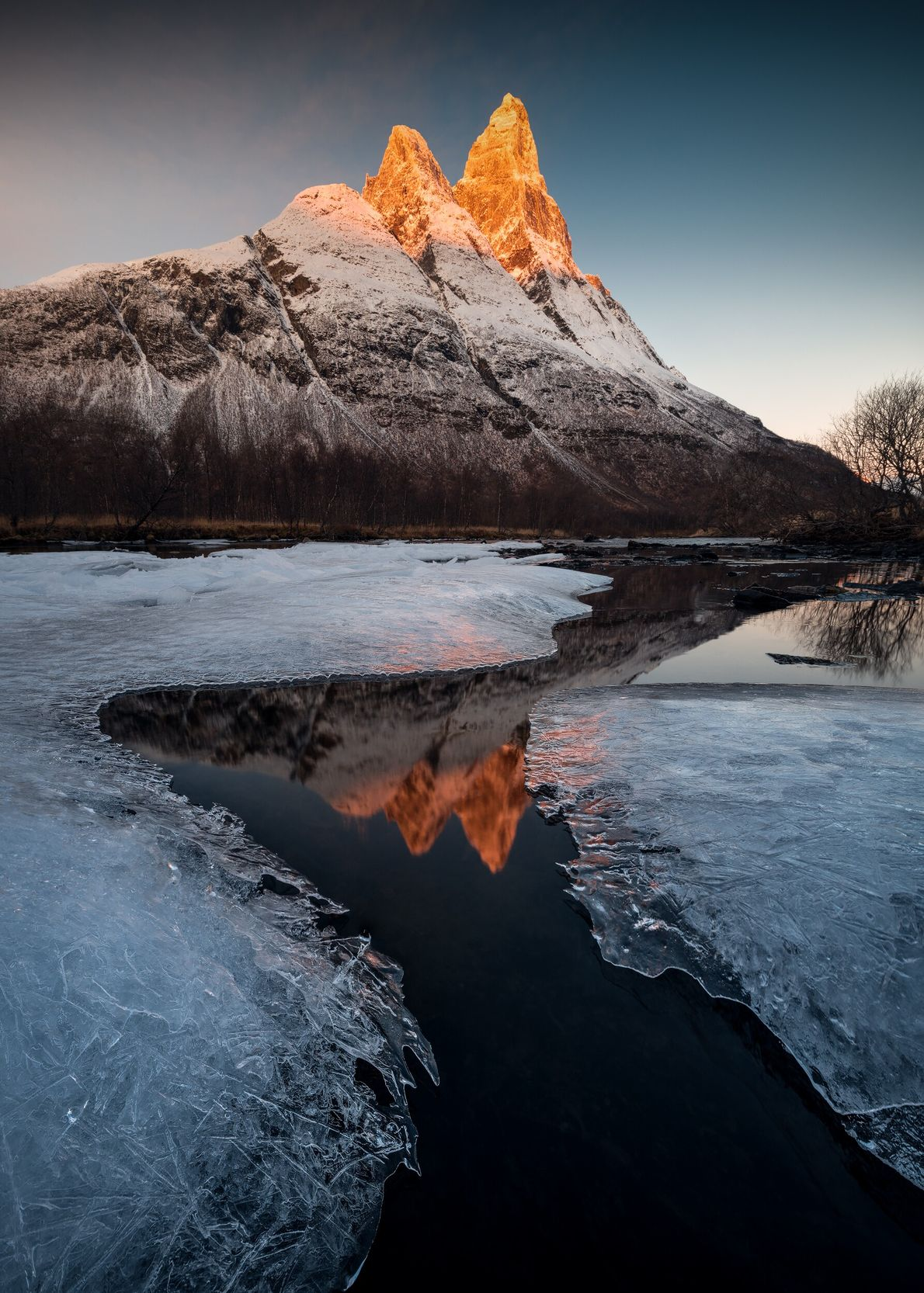 "Otertinden at sunrise, Lofoten. Stian Klo: ""This is my favourite mountain in incredible light. It took me ..."