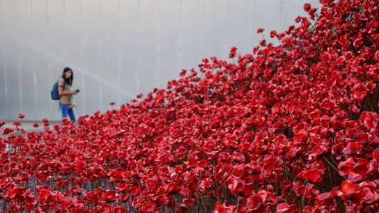 The 'Weeping Window' installation at the Imperial War Museum in Salford was one of several by ...