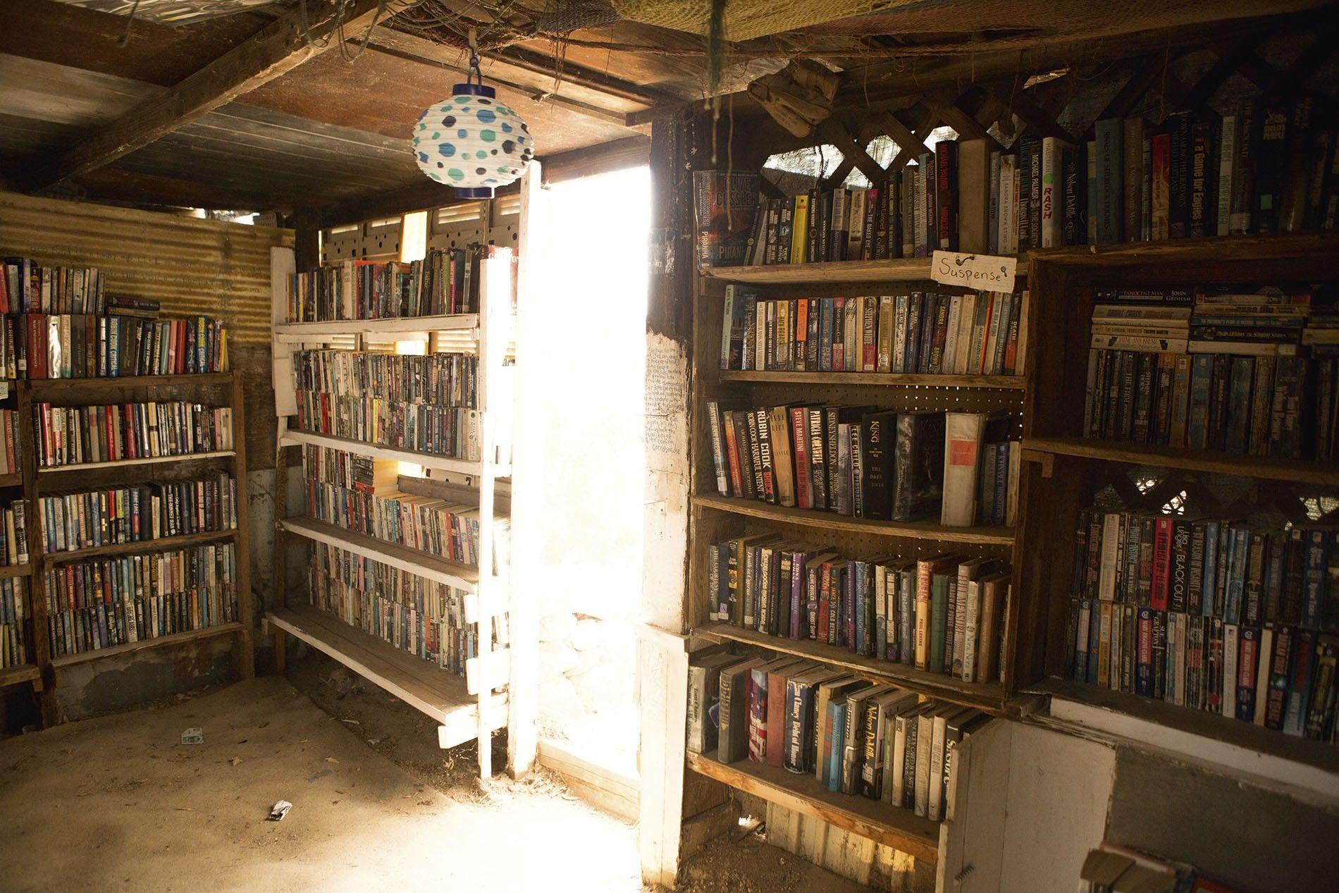 Slab City library, California desert