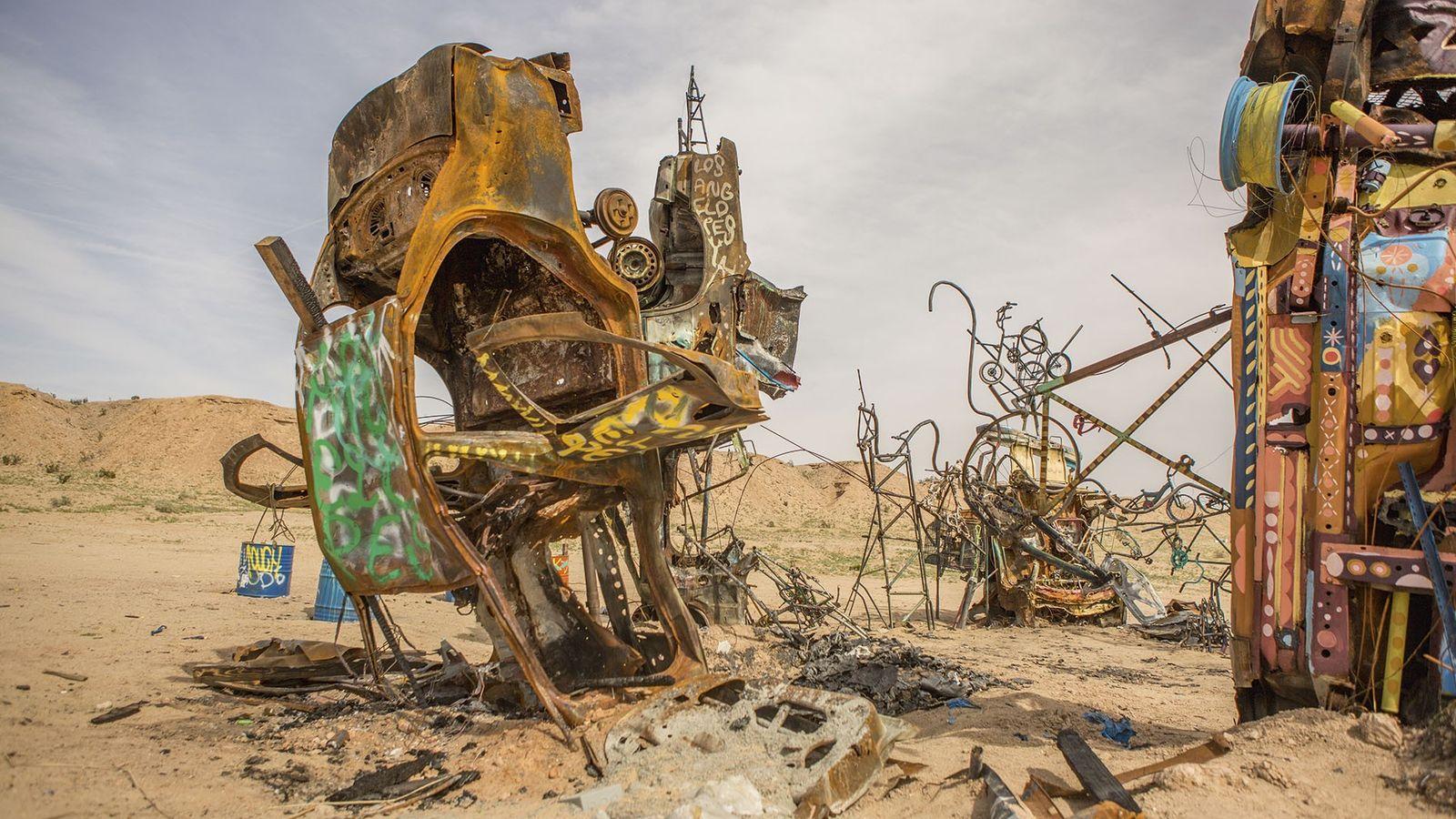 Modern art in California desert