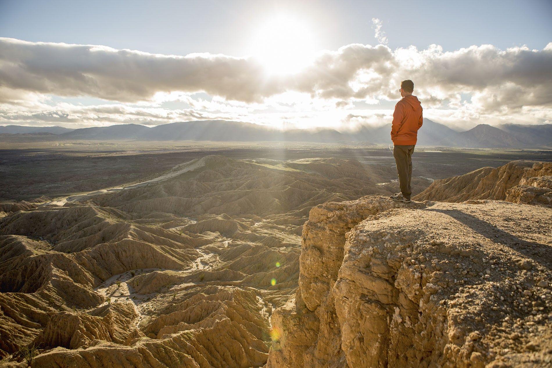 View over Borrego Badlands, California desert