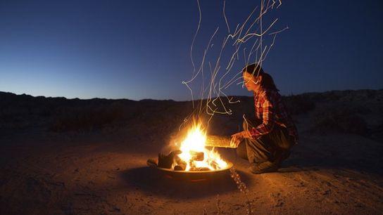 Photography: Fireside self-portrait