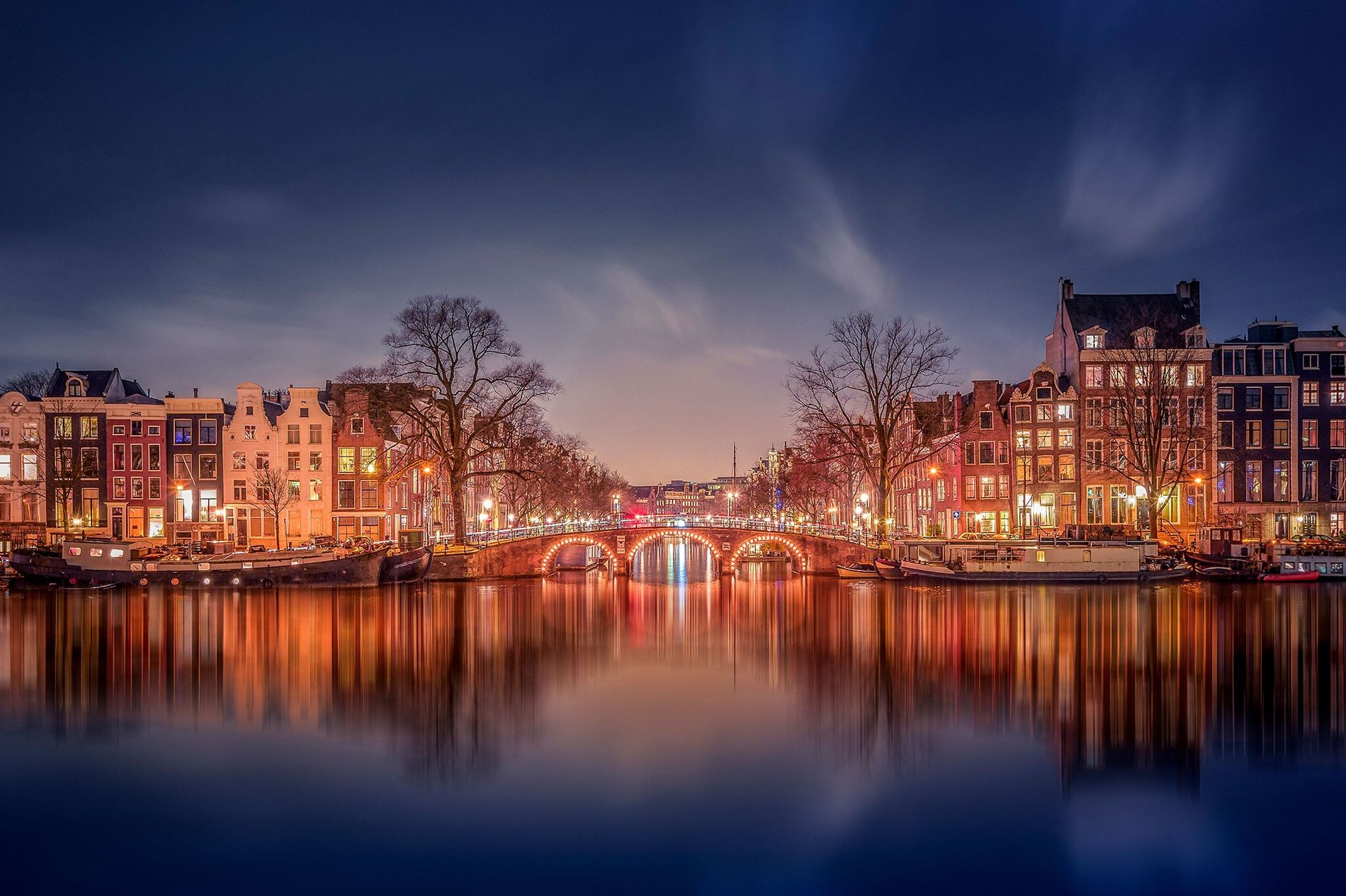 5.) The Netherlands. Amsterdam actually has 1281 bridges, three times as many as Venice.
