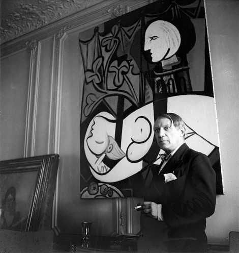 Pablo Picasso, rue La Boetie, Paris, 1933, by Cecil Beaton.