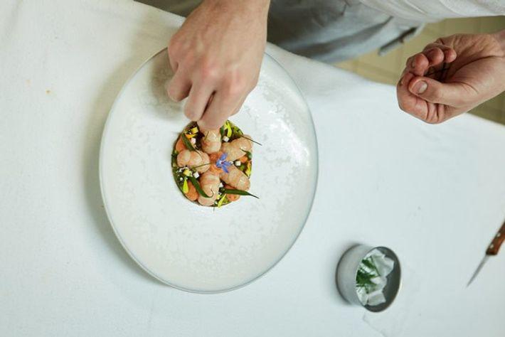 A dish at L'Abeille restaurant.