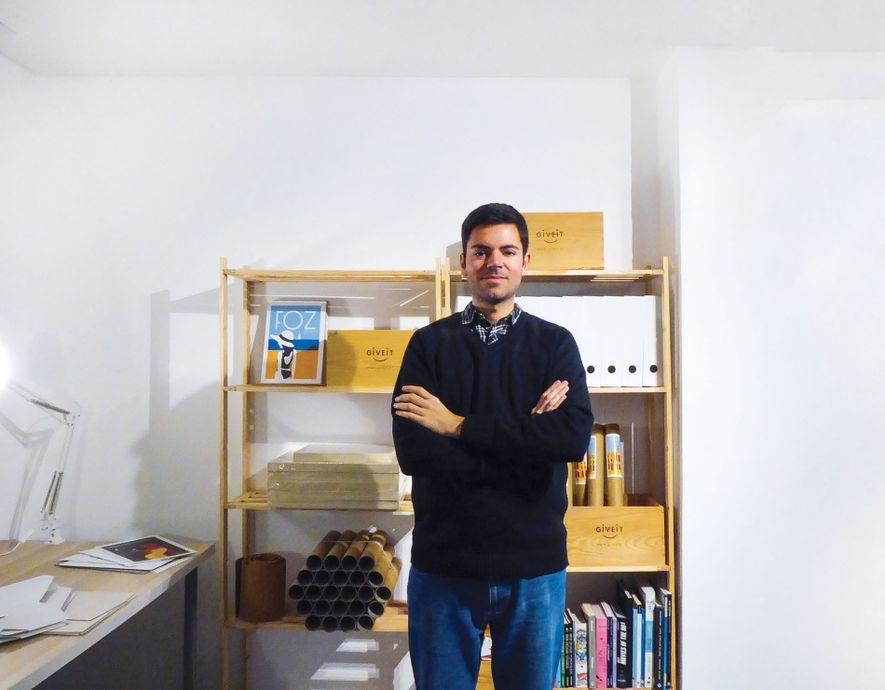 João Brandão in his studio