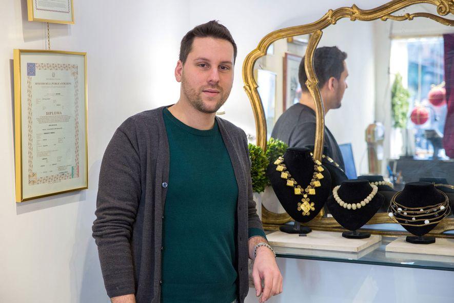 Tommaso Semenzato in his shop