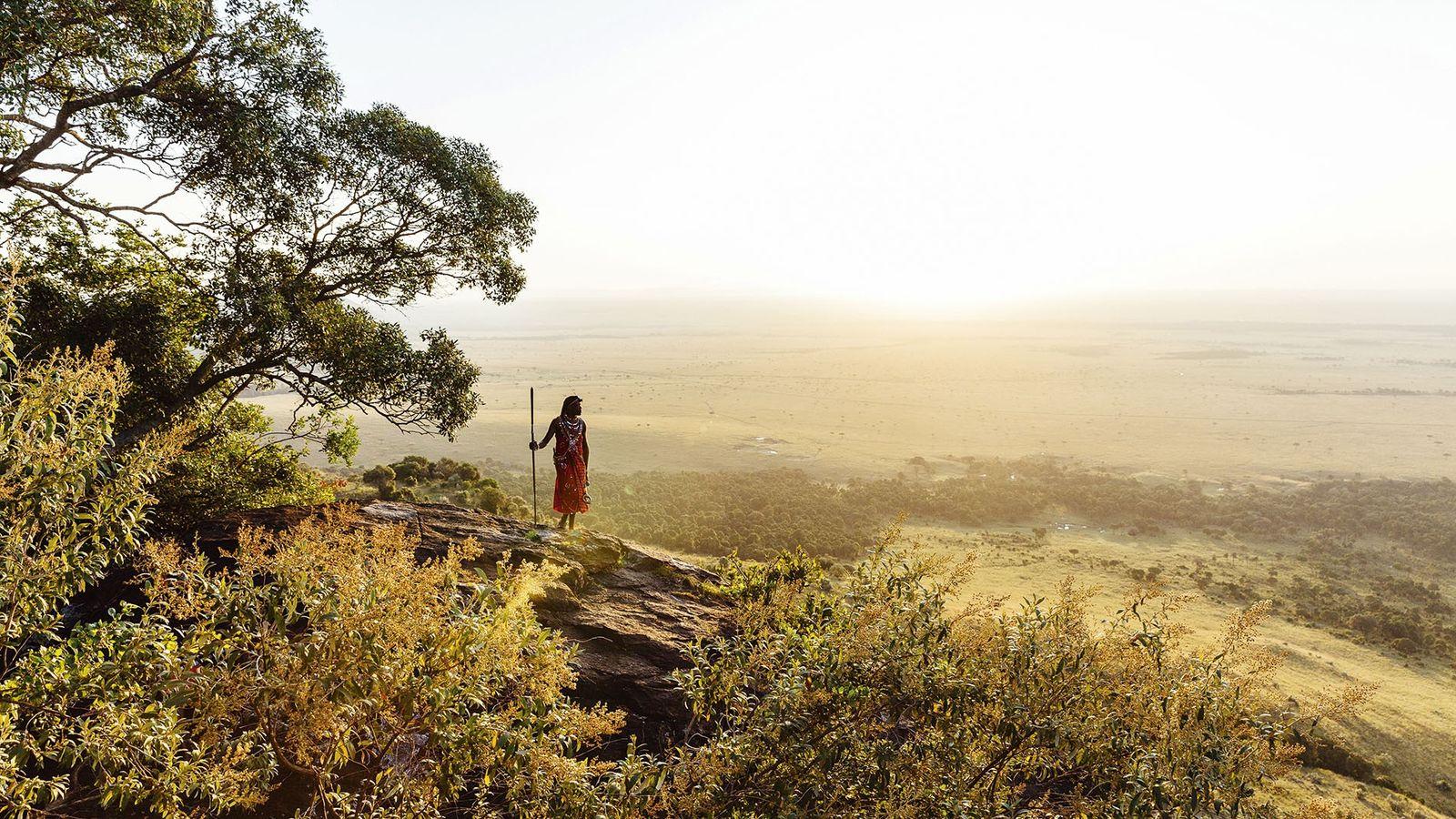 Maasai tribesman, Mara Triangle, Kenya.