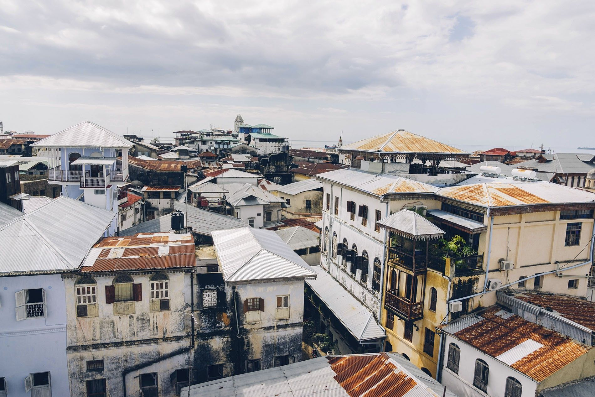 Looking over the tin roofs of Stone Town.