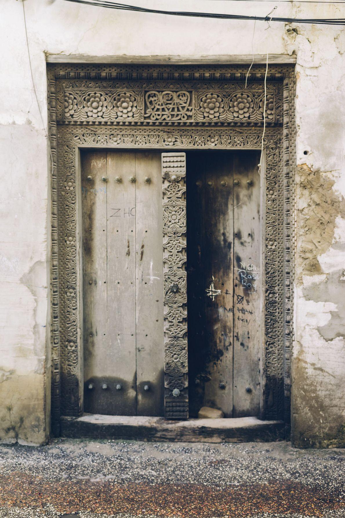 A semi-open door.