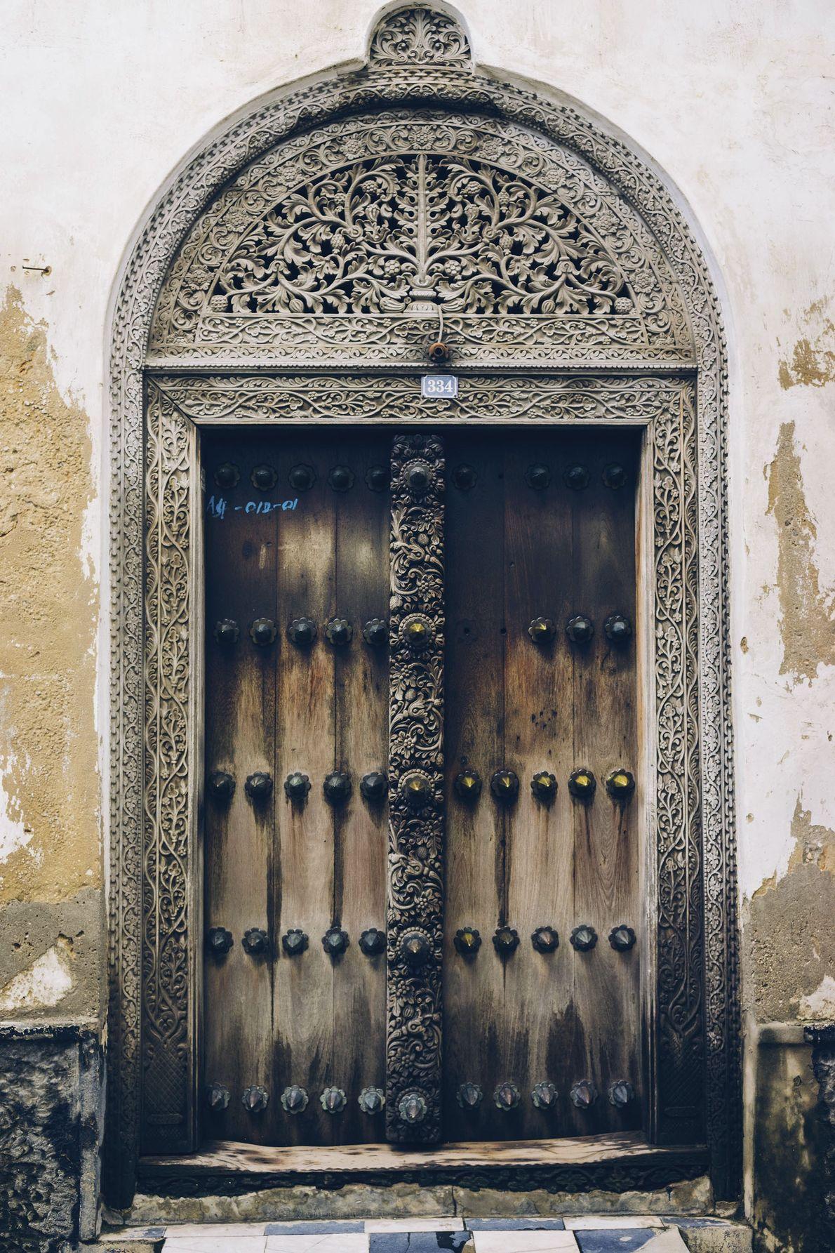 A door in Stone Town.