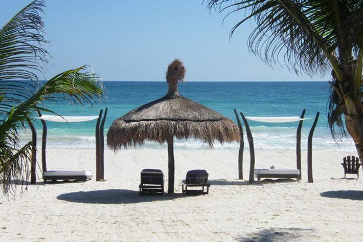 Playa Mambo Eco Cabanas, Tulum, Mexico.