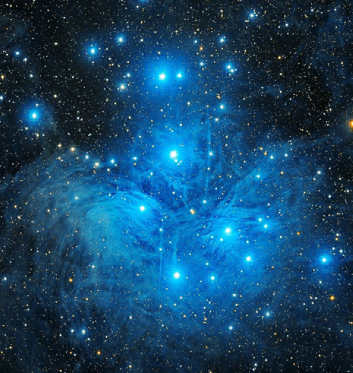 The Pleiades, deep-sky stars of particular brilliance were captured here above Punjab, India in winter over ...