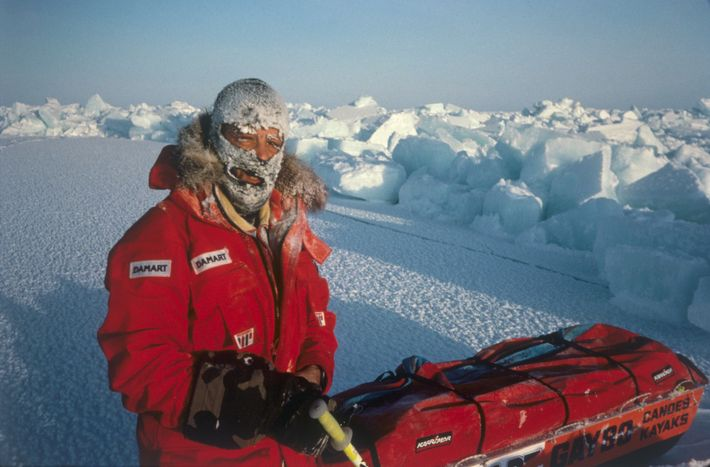 Gore-Tex clothing didn't arrive until the early 1970s and many polar explorers still preferred using wolf ...