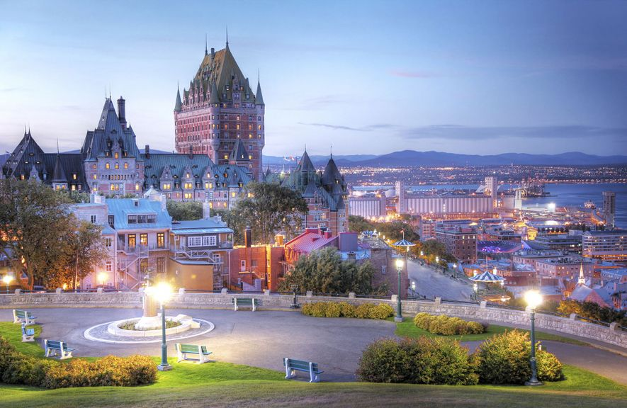 Quebec City skyline.