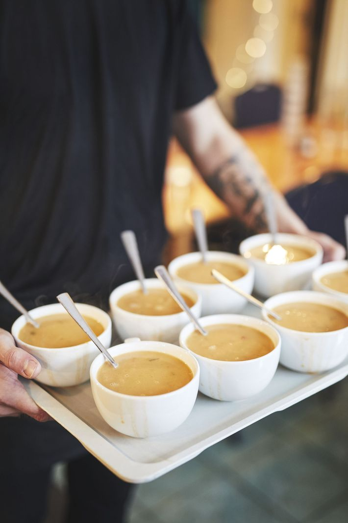 Lobster soup served at Sea Baron