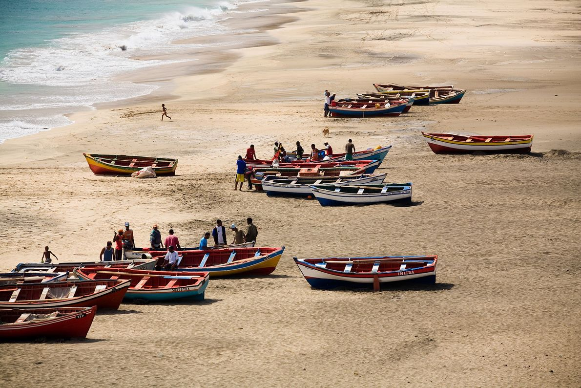 Boats by the sea.