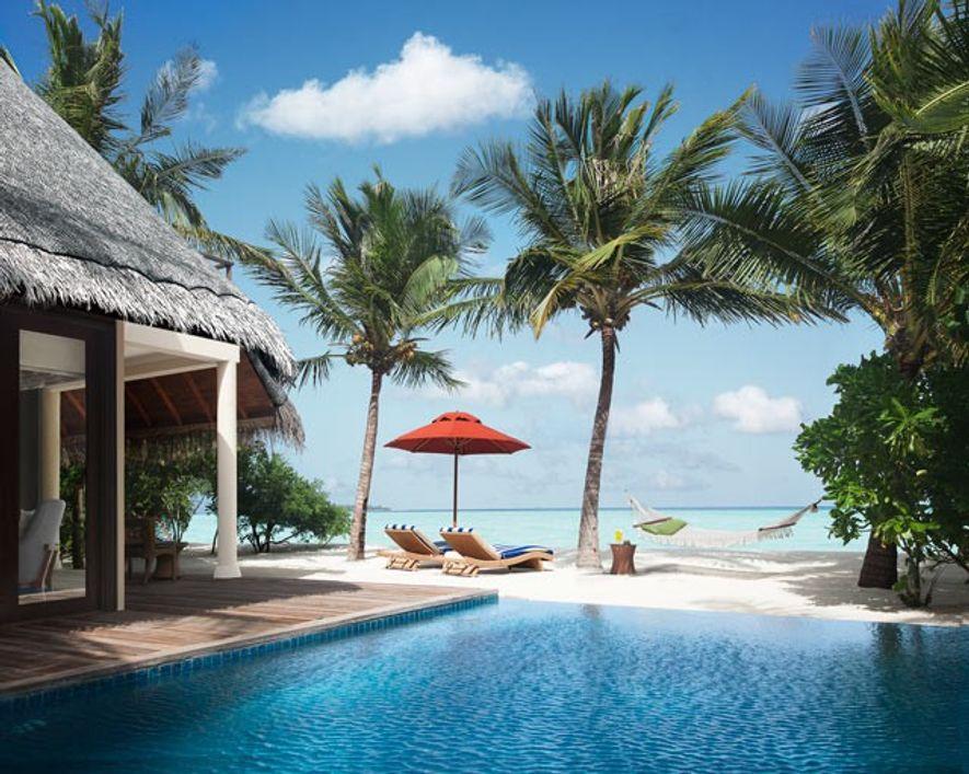 Beach villa suite with poolat Taj Exotica