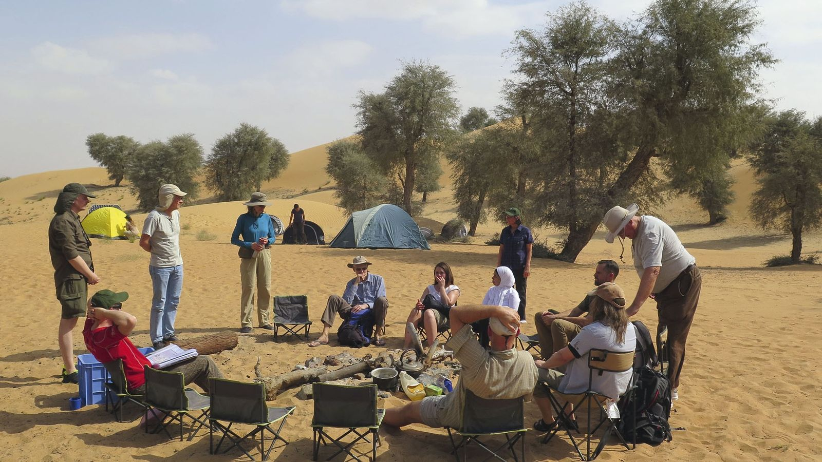 Campsite of a Biosphere Expedition group