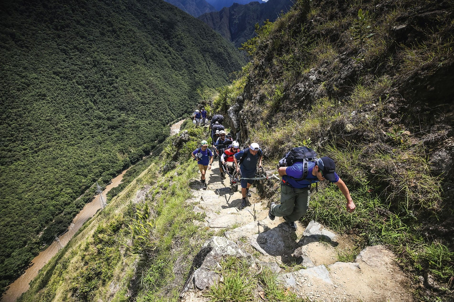 Hiking the Inca Trail, Peru, with Wheel the World.