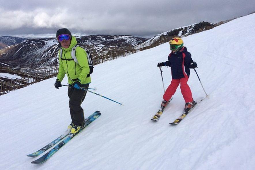Skiing in Glenshee