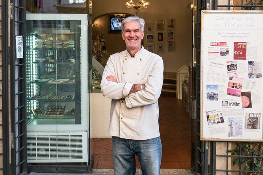 Stefano Marcotulli, ice cream maker, Gelateria del Teatro. Image: Nico Avelardi