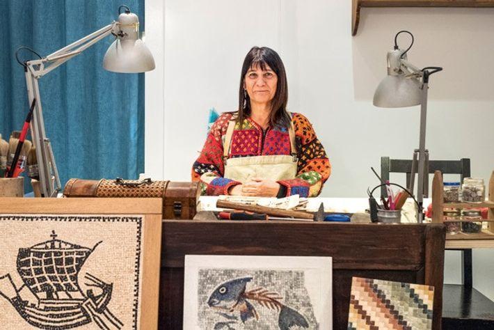 Tiziana Ferraresi, mosaic artist, LaGotta Dipinta. Image: Nico Avelardi