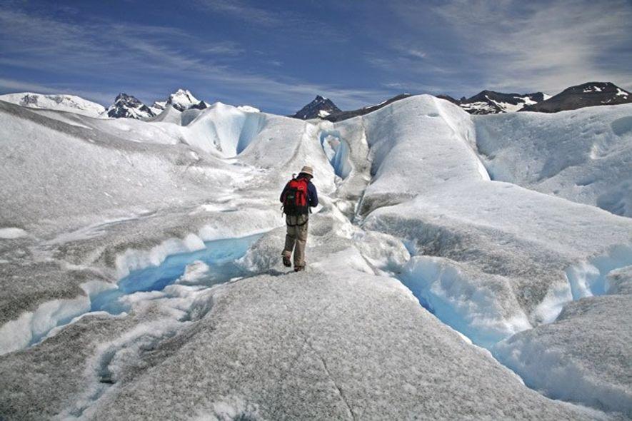 The Perito Moreno glacier in Los Glaciares National Park, Patagonia.