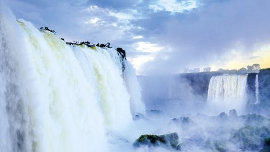 Iguazú Falls sits on the intersection of three countries.