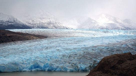 Grey Glacier, Torres del Paine National Park, Patagonia, Chile.