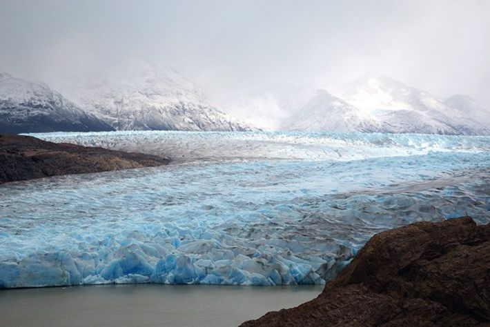 Grey Glacier, Torres del Paine National Park, Patagonia, Chile.