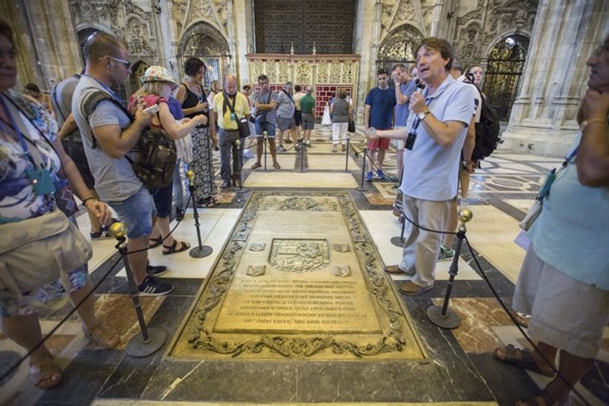 Tomb of Christopher Columbus's son Hernando Colon, Seville Cathedral. Image: Nori Jemil