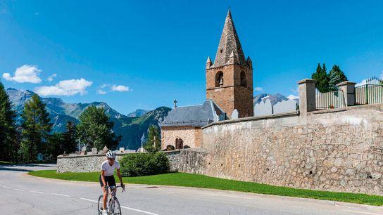 Tackling Alpe d'Huez, France by bike