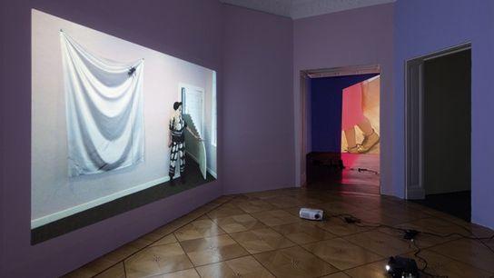 Josh Kolbo installation at Frieze London.
