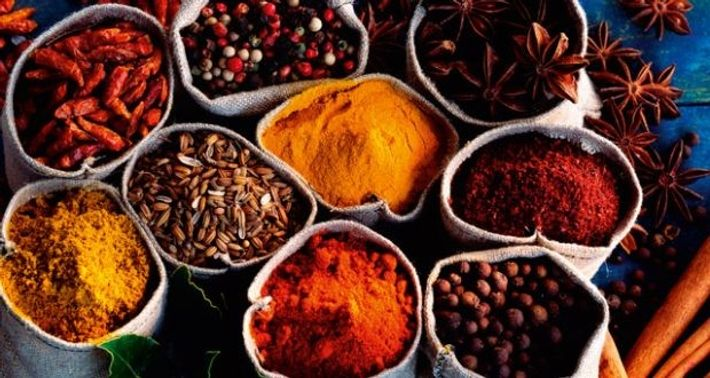 Traditional Indian spices.