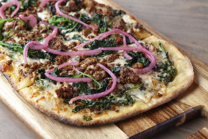 Sausage and broccoli rabe at Carson Kitchen