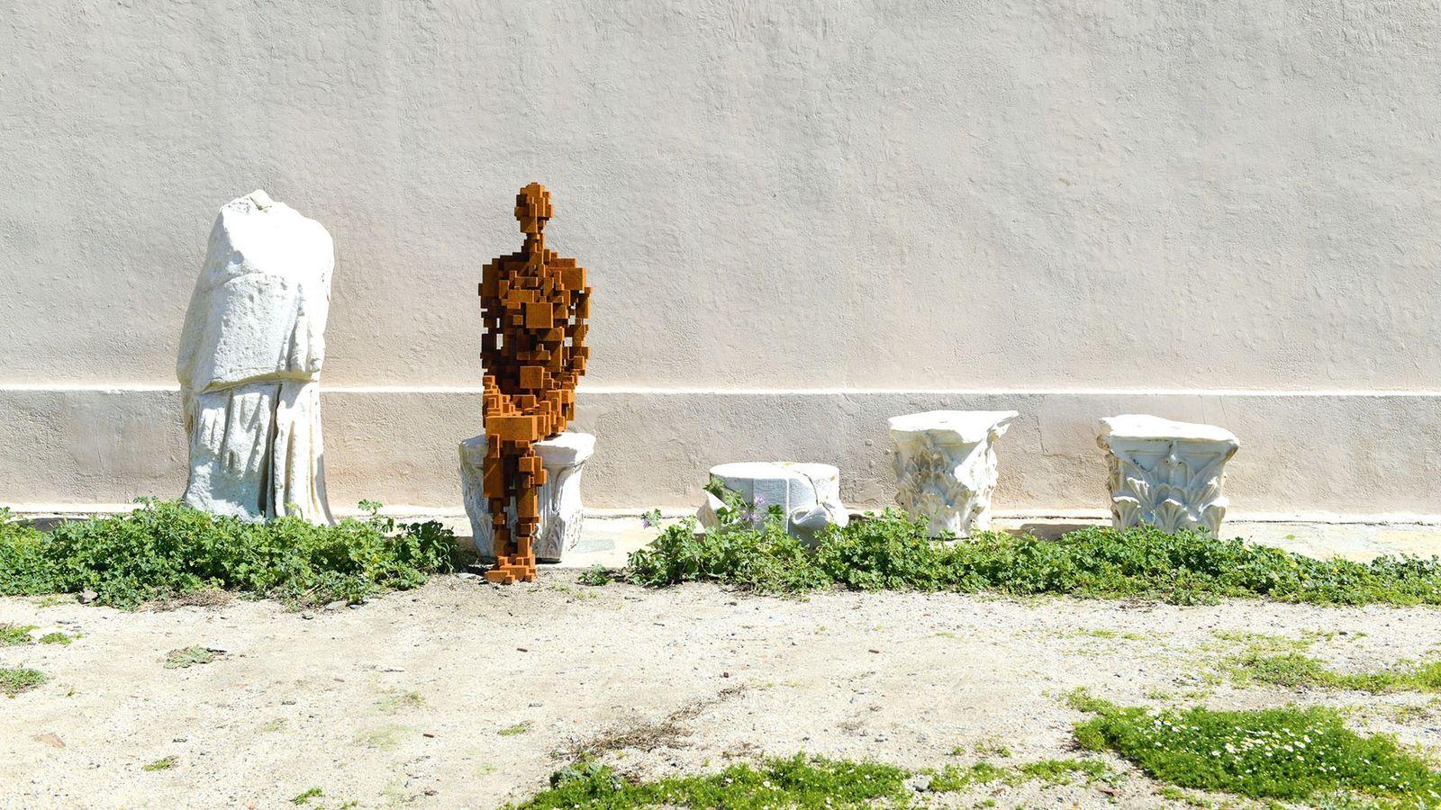 Antony Gormley exhibition, Delos, Greece