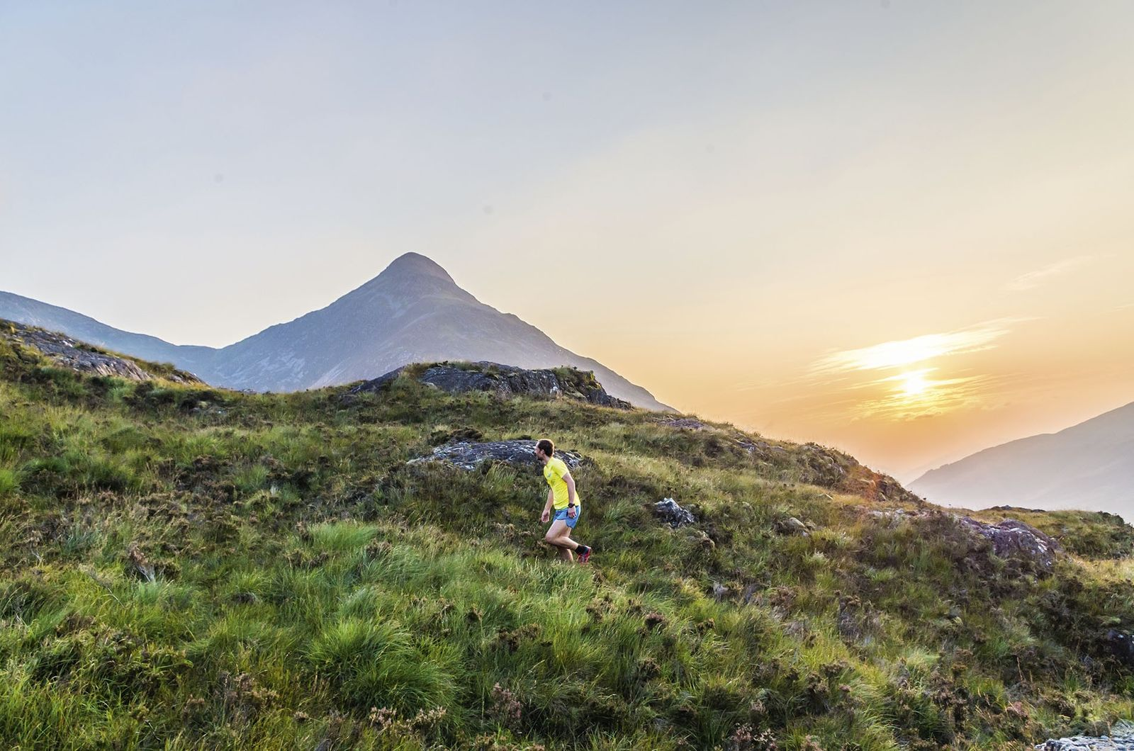Trail running in the Scottish Highlands.