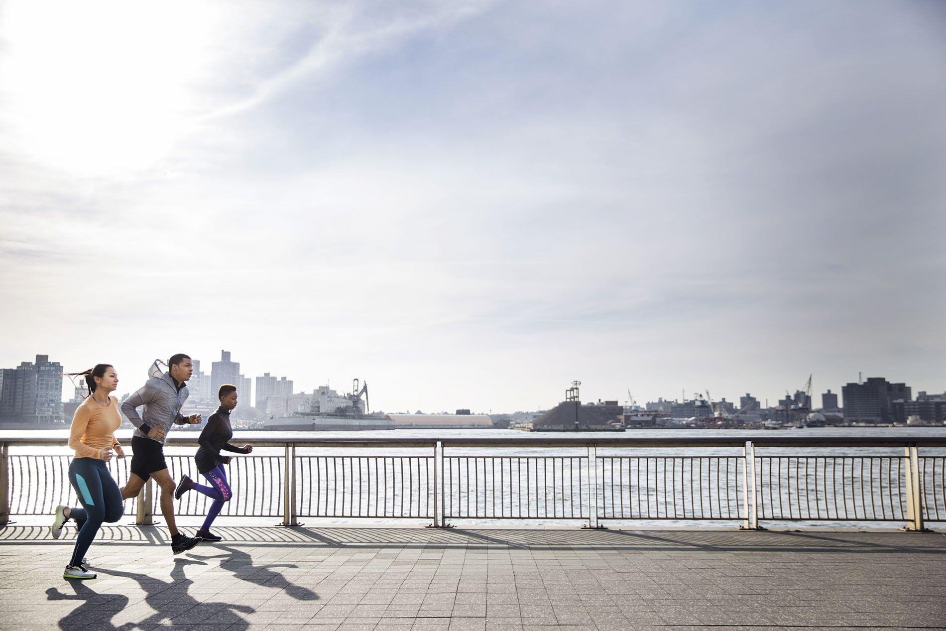 Running in New York.