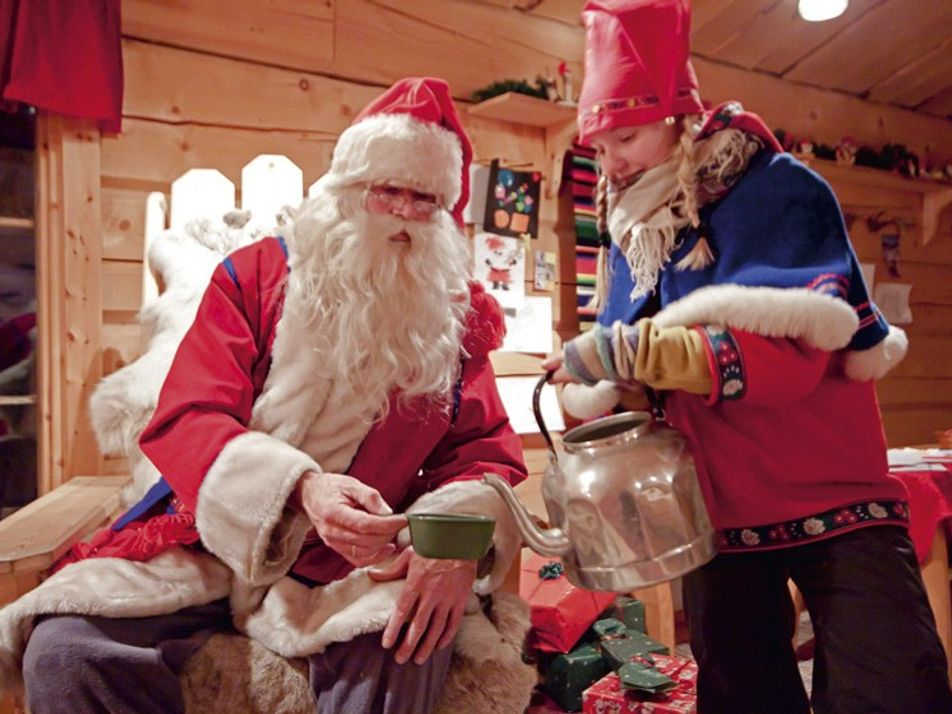 Family travel: Meeting Santa Claus