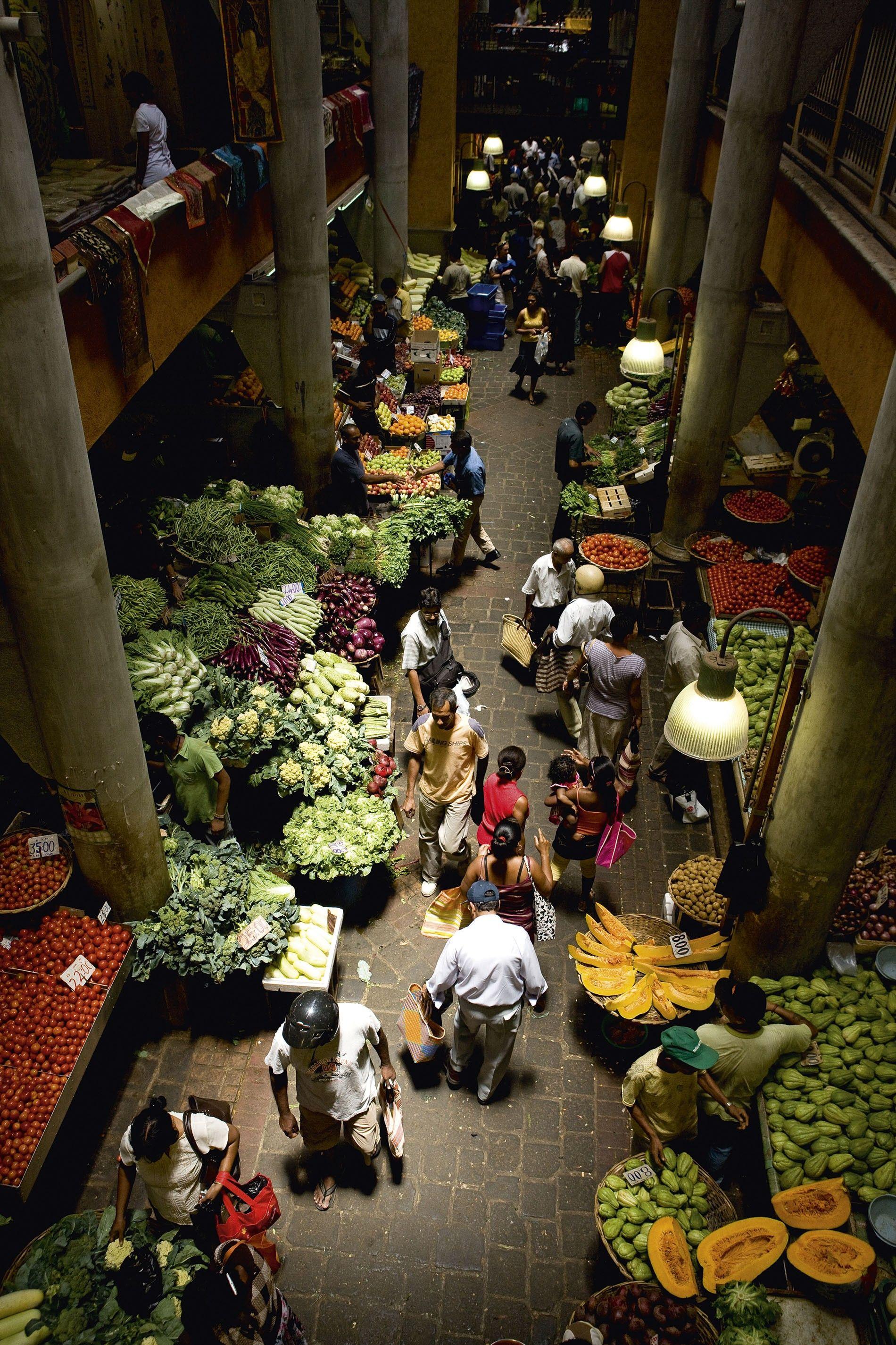 Port Louis Central Market.