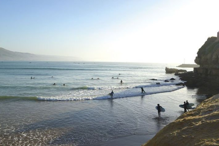 Surfers at Magic Bay, Imsouane