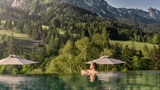 The pool at Forsthofgut Nature Hotel, Salzburgerland
