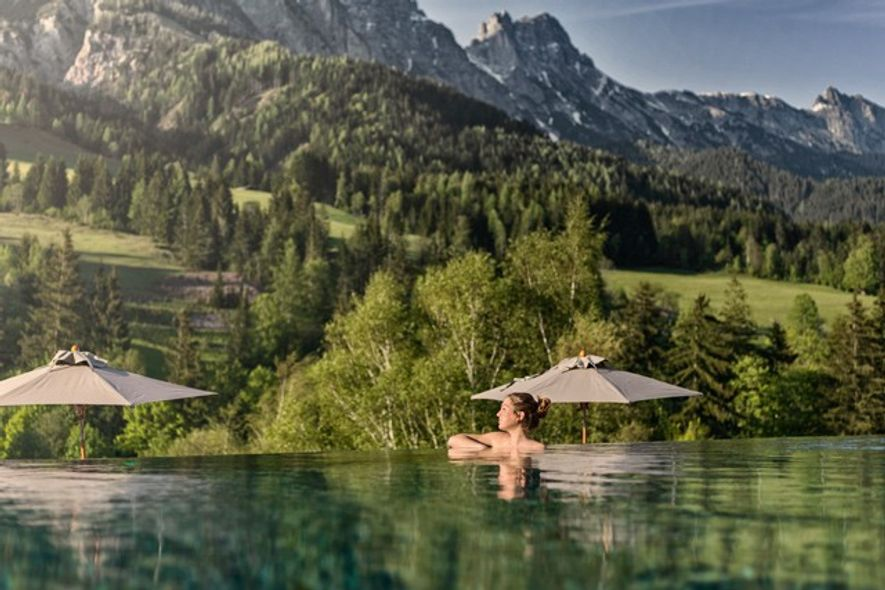 The pool at Forsthofgut Nature Hotel, Salzburgerland
