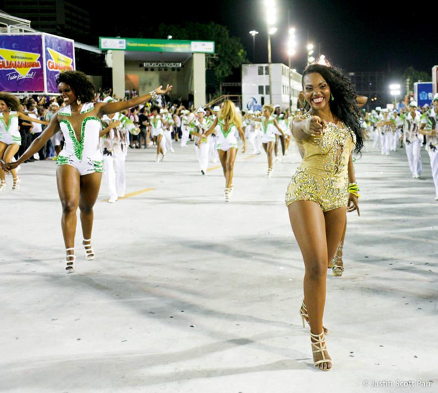 Laiza Bastos Vieira, dancer and choreographer for the Mocidade Samba School's comissão de frente (the lead float in the Sambódromo parade)