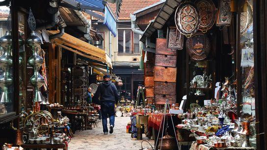 Street in Baščaršija.