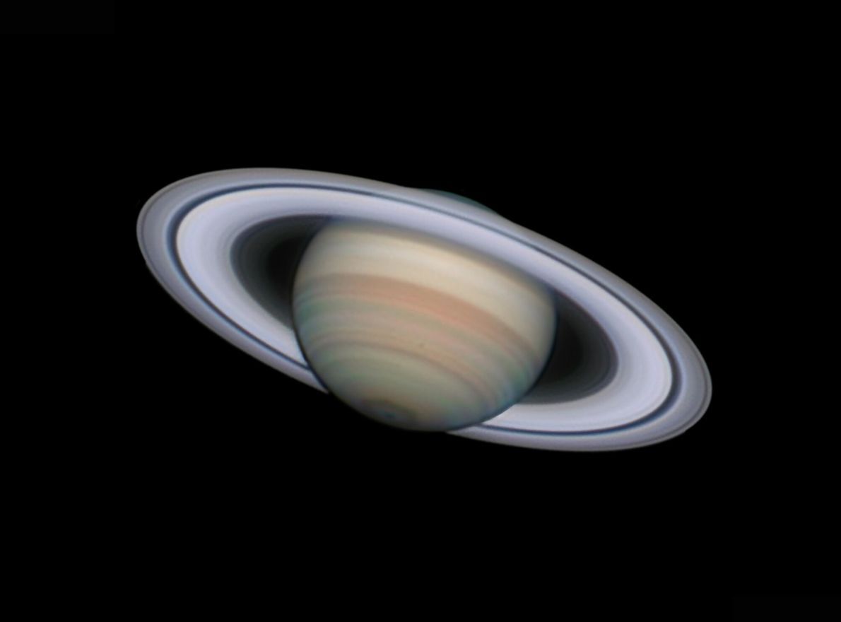 Shot over La Palma, near Murcia, Spain, this image gives an impressively detailed view of Saturn, ...